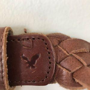 American Eagle brown braided belt
